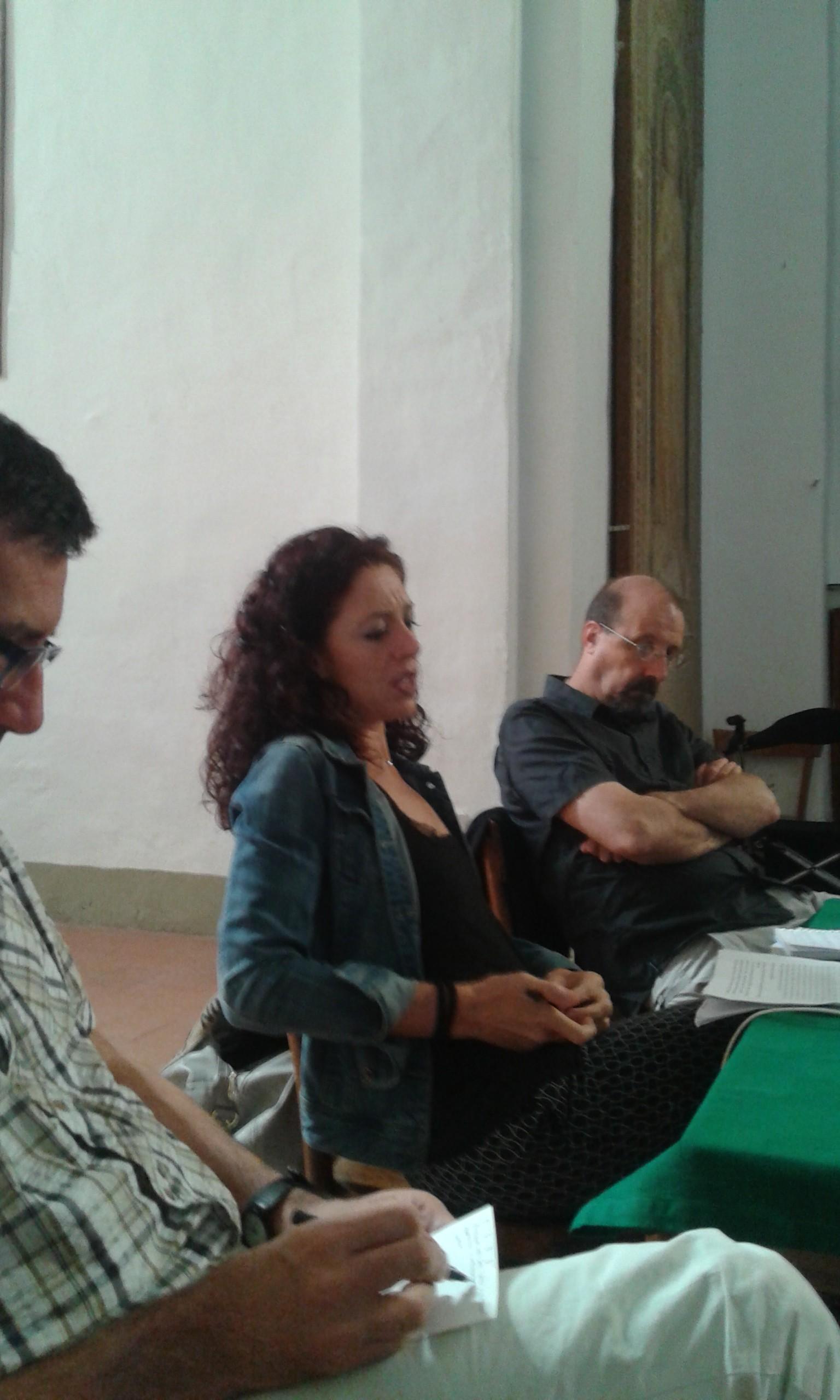 A. Cortesi (Espaces), F. Paci (La Stampa), D. D'Andrea (Unifi)