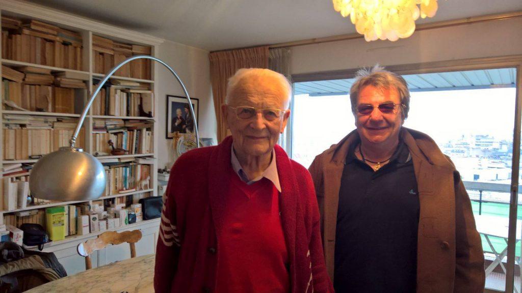 Alain Touraine con Filippo Buccarelli, Presidente di Poieinlab
